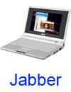 Jabber VC software running on laptop