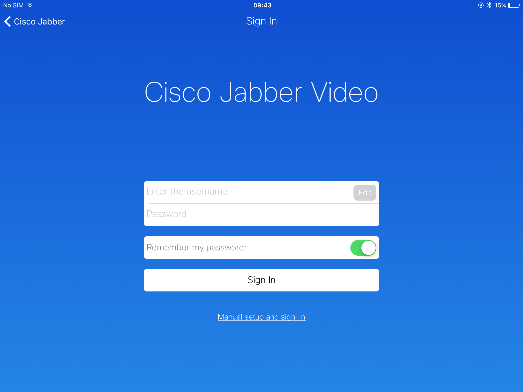 Jabber Video and iOS 9 or 10 | NHSS National Video Conferencing Service
